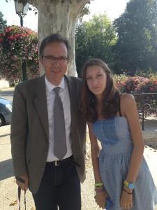 GH et LEONIE bapteme de Clara Aout 2013